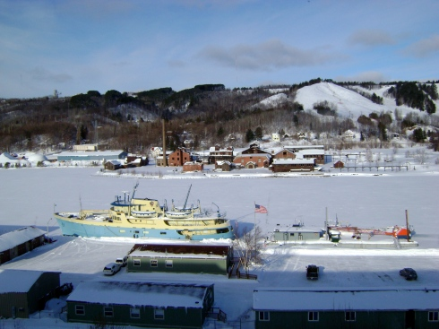 Overlooking the Portage Canal in Houghton, Michigan