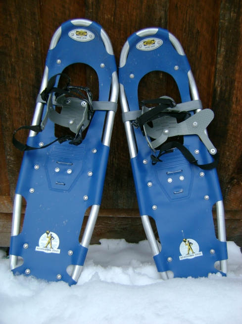 Modern blue snowshoes