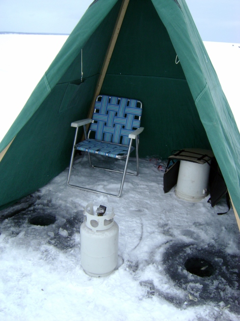Our ice fishing tent