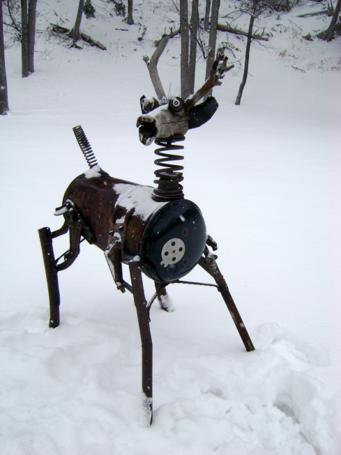 Barrel-stove deer