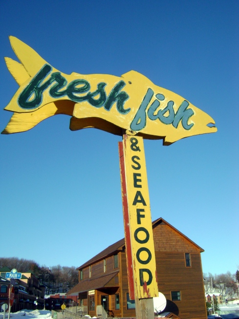 Follow that sign to Thill's Fish Market