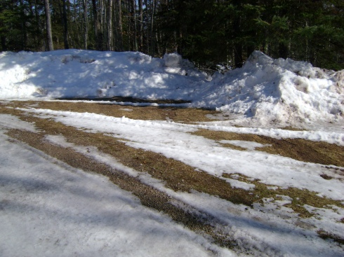Driveway melting, thanks to the snowplow scraping it away