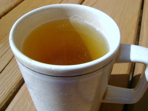 Cup of tea, anyone?  Shall we drink it outdoors?