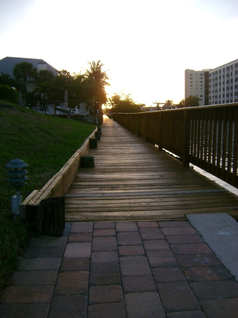 Dawn along the boardwalk