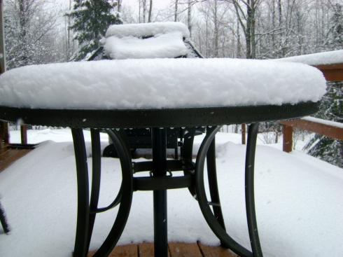 Table on our deck