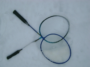 Rackets in the snow