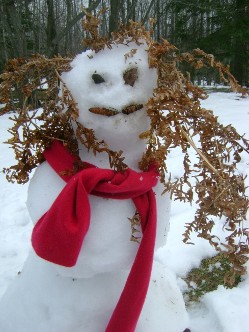 Meet Ms. Snowman.  I mean, meet Ms. Snow-woman!