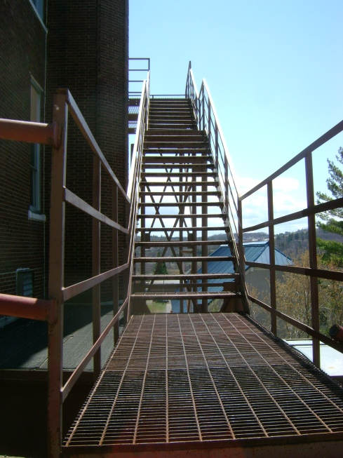 Fire escape at the old Hancock school