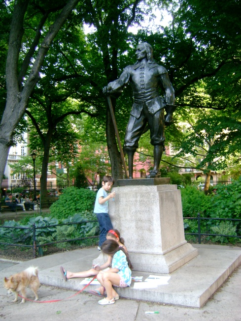 Peter Stuyvesant's statue (a friend of our ancestor)