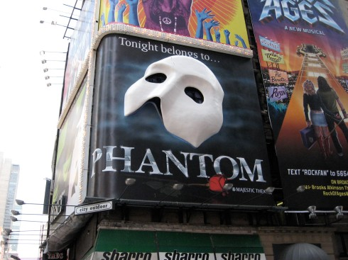 The Phantom plays on Broadway