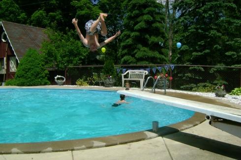 Look at that mid-air flip!