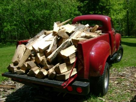 Full Studebaker of split logs