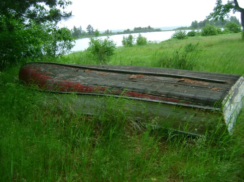 It's been a few years since this rowboat floated on the water
