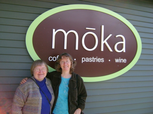 Gerry and Kathy at the Moka shop in Bellaire