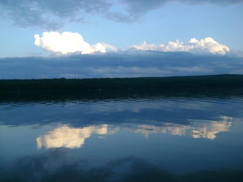 The Huron Bay at dusk
