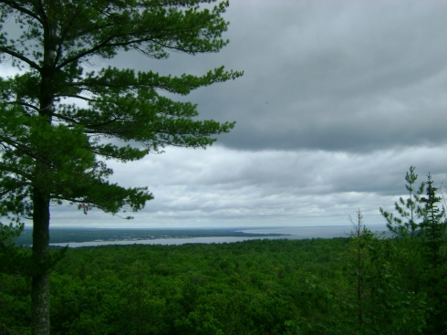 Little Mountain overlooks the Keweenaw Bay