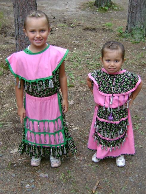 Beautiful little girls in pink