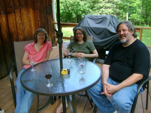 Daniel, Amy and myself on the deck (Barry so kindly takes our picture)