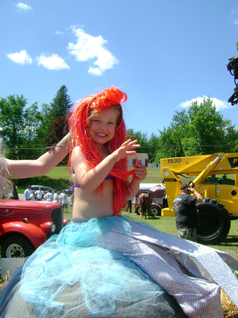 The Little Mermaid on her float