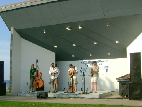 Blues band at the waterfront last night:  Chasin' Steel