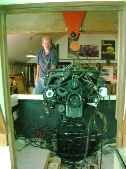 The boat engine