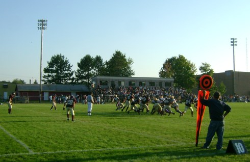 High school football game