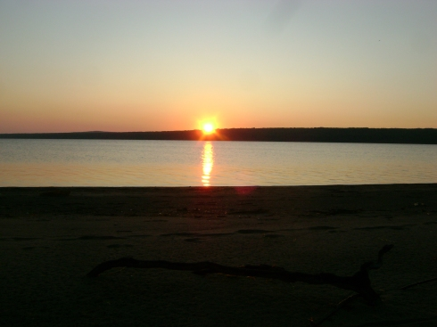 Dawn on the Keweenaw Bay, behind the Pow Wow grounds