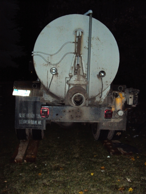 The septic tank truck which hauls away your human eliminations