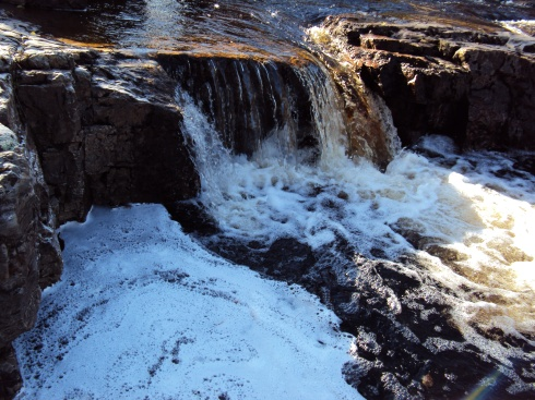 The rush of the waterfall