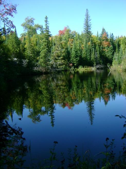 Slate quarry lake