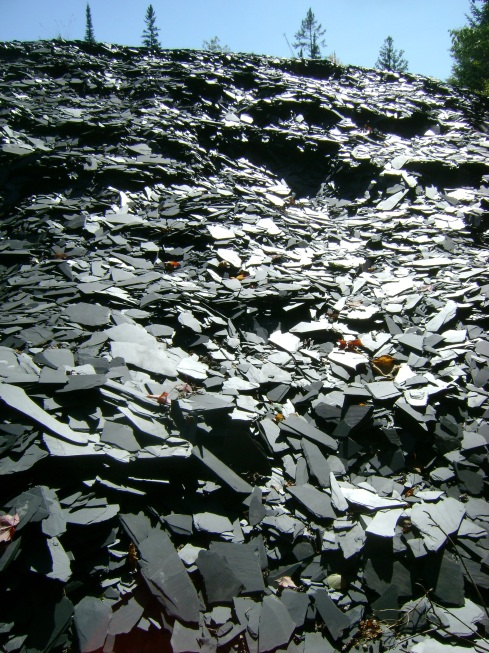 "A mountain of ""waste"" slate"