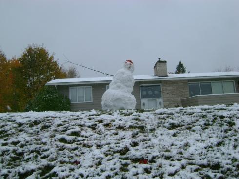 Snowman near Houghton